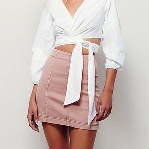 Free People Blush Pencil Skirt